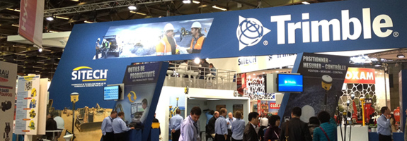 Trimble Booth at INTERMAT 2012